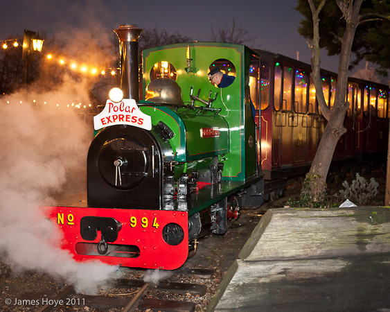 Father Christmas on the Gallopers Bressingham Steam_photo James Hoye