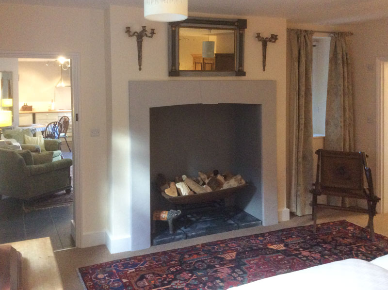 Cosy fireplace at Old Rectory Cottages, Bungay, Suffolk
