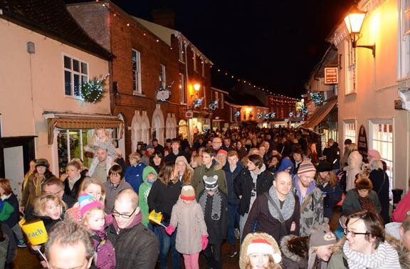 Halesworth Festive Lights Switch On