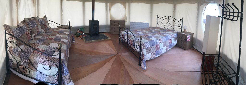 WRC Yurt interior