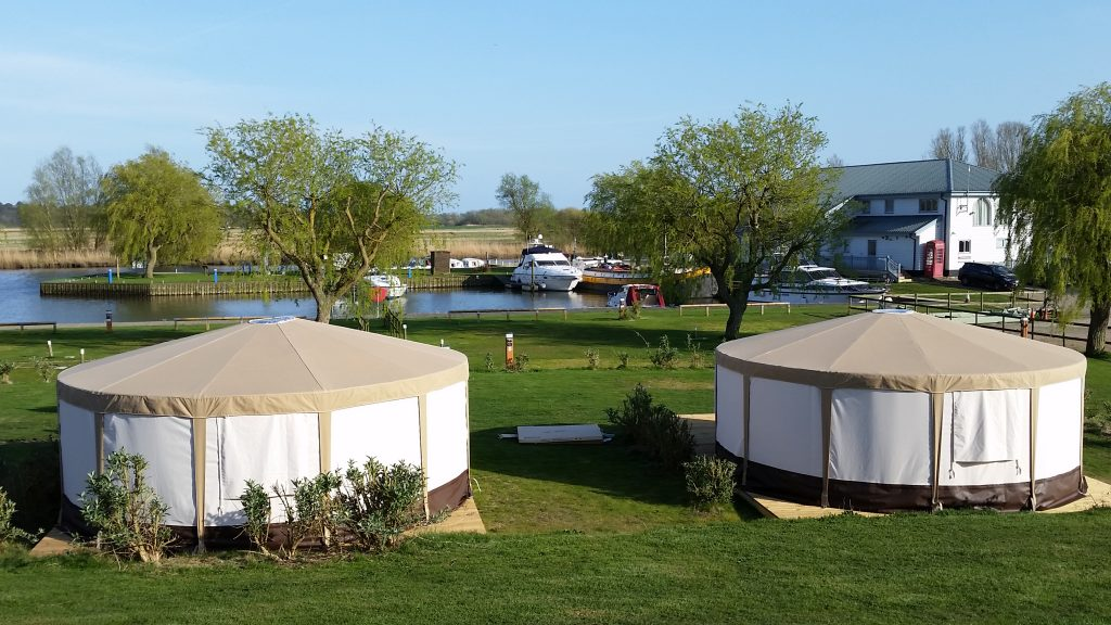 Yurts at Waveney River Centre